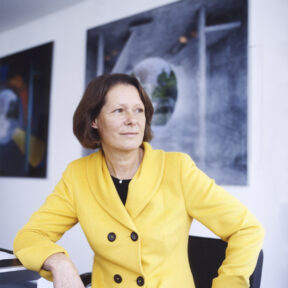 "Christina Rau, Chairwoman, Berlin. For ""Bertelsmann Stiftung Magazine"""