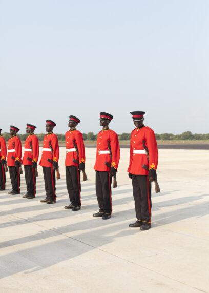 Süd SudanJubaGarde am Flughafen